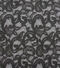 Stretch Knit Lace Apparel Fabric -Charcoal