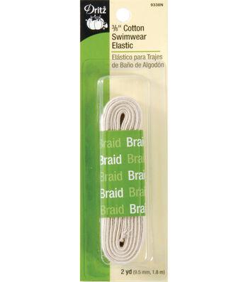 Dritz Cotton Braided Swimwear Elastic 0.38''x2 yds.-Natural