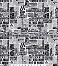 Harry Potter Cotton Fabric -Newspaper