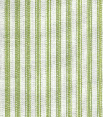 "Home Essentials Decor Fabric 45""-Timeless Ticking Sprout"