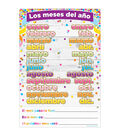 Spanish Chart Confetti Months of the Year 10pk