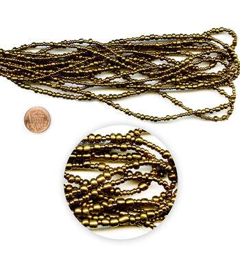 Blue Moon Beads Seed Bead Hank, Metallic Bronze, Multi Sizes
