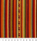 Anti-Pill Fleece Fabric 59\u0022-Autumn Stripe