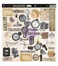 Prima Marketing Cartographer Self-Adhesive Chipboard 12\u0022x12\u0022