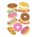 Delightful Donuts Sparkle Stickers-Large 22 Per Pack, 6 Packs