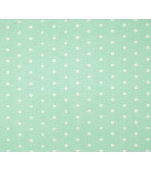 Super Snuggle Flannel Fabric-Dots On Aqua