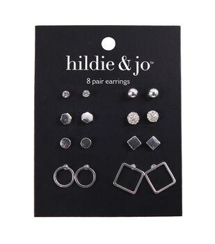 hildie & jo Minimalist 8 Pairs Stud Earrings