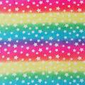 Anti-Pill Plush Fleece Fabric-Star Rainbow Tie Dye