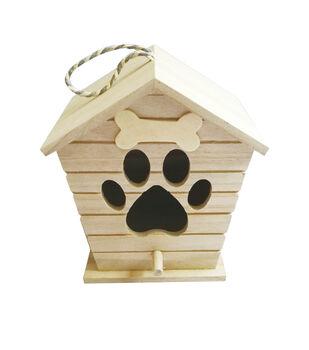 Paulownia Large Wood Doghouse Birdhouse