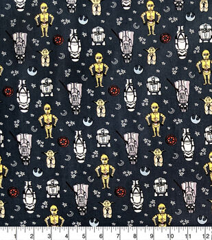 Star Wars Cotton Fabric-Doodle Figures