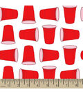 Snuggle Flannel Fabric -Red Party Cup