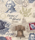 Patriotic Cotton Fabric 43\u0027\u0027-Independence Day