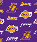 LA Lakers Fleece Fabric -Tossed
