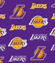 LA Lakers Fleece Fabric -Tossed, , hi-res