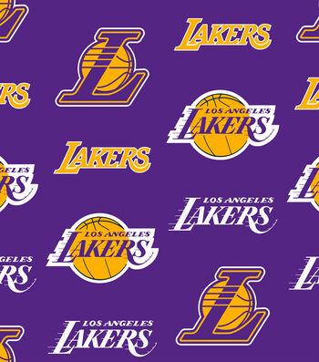 LA Lakers Fleece Fabric -Tossed
