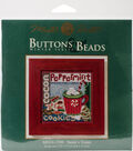 Mill Hill Buttons & Beads Counted Cross Stitch Kit-Santa\u0027s Treats