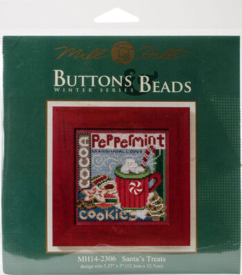 Mill Hill Buttons & Beads Counted Cross Stitch Kit-Santa's Treats