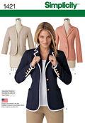 Simplicity Pattern 1421U5 16-18-20-2-Misses Jackets Coats