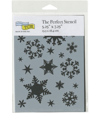 The Crafter's Workshop The Perfect 5.25''x7.25'' Stencil-Flakes