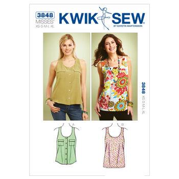 Kwik Sew Misses Top-K3848