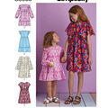 Simplicity Pattern S8853 Children\u0027s & Girls\u0027 Dress-Size K5 (7-14)