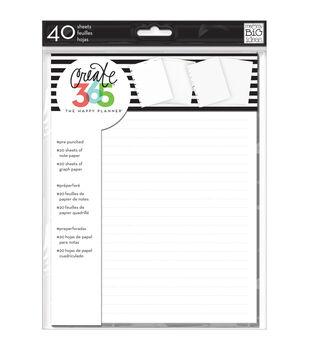 Me & My Big Ideas Create 365 Note & Graph Paper-White