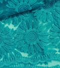 SUEDEsays Fabric- Daisy Embroidered Bluebird