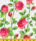 Gertie Collection Cotton Fabric 42\u0022-Sateen Rose and Dot