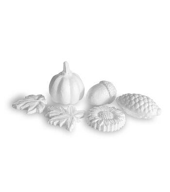 Floracraft Styrofoam Fall Icons 6/Pkg