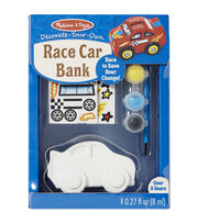 Melissa & Doug Decorate-Your-Own Race Car Bank Craft Kit, , hi-res
