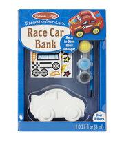 Melissa & Doug Decorate-Your-Own Race Car Bank Craft Kit, , hi-res