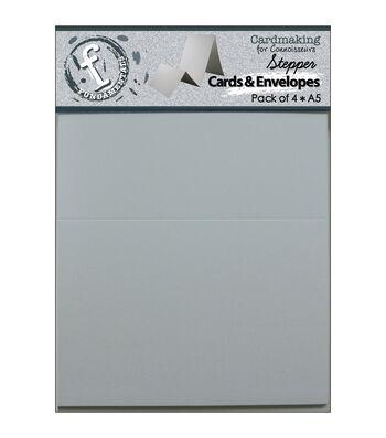 """Stepper Cards&Envelopes 8.5""""X5.5"""" 4/Pkg-White"""