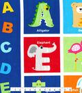 Novelty Cotton Fabric Panel-Alphabet Animals