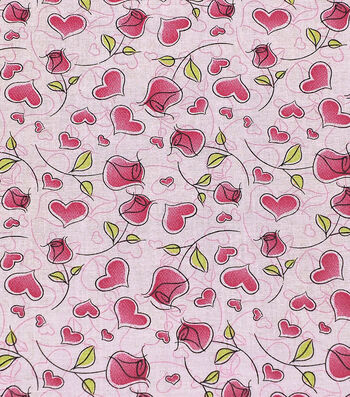 Valentine Pink Heart Swirl Tonal Blender Cotton Fabric Traditions By The Yard
