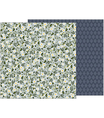 """Jen Hadfield Heart Of Home Double-Sided Cardstock 12""""X12""""-Wild Daisies"""