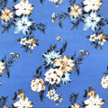 Ember Knit Prints Double Brushed Fabric-Light Blue Floral Clusters