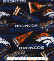 Denver Broncos Fleece Fabric -Retro, , hi-res