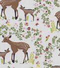Nursery Flannel Fabric -Deer