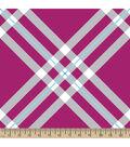 Blizzard Fleece Fabric 59\u0022-Hot Pink Diagonal Plaid
