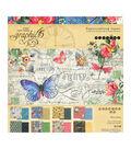 Graphic 45 Double-Sided Paper Pad 8\u0022X8\u0022 24/Pkg-Flutter, 8 Designs/3 Each