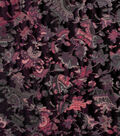 Silky Velvet Burnout Fabric 58\u0022-Burgundy Dark Blooms