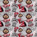 Ohio State University Buckeyes Cotton Fabric-Collegiate Mascot