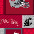 Washington State Cougars Fleece Fabric-College Patches