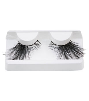 Maker's Halloween Costume Cosmetic Eyelashes with Outer Feathers-Black