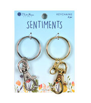 Blue Moon Beads Sentiments 2 pk Keychains, , hi-res