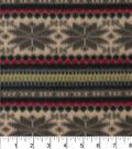 Blizzard Fleece Fabric 58\u0022-Snowflake Stripe Knit