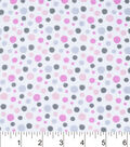 Nursery Flannel Fabric 42\u0022-Madison Dot Print