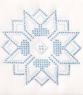 Stamped White Quilt Blocks 9\u0022X9\u0022-XX Stars
