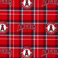 Los Angeles Angels Flannel Fabric-Plaid