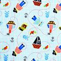 Babyville Laminate Waterproof Fabric 9.5\u0022-Little Pirate Print